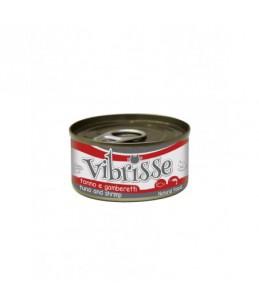 Vibrisse Cat - Thon et crevettes - Boîte de 140 g