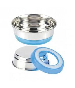 Gamelle inox - 470 ml - Fluo bleu clair