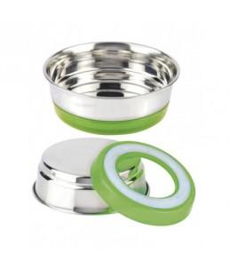 Gamelle inox - 470 ml - Fluo vert