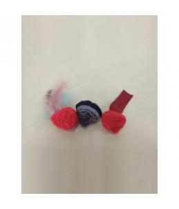 Pack de 3 boules au catnip - Rouge - Rouge - Bleu