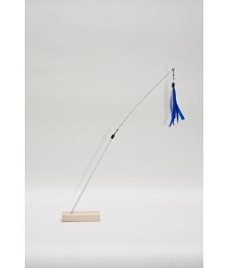 TeaZ'r Medium - White - Ribbon : Blue & White with heart
